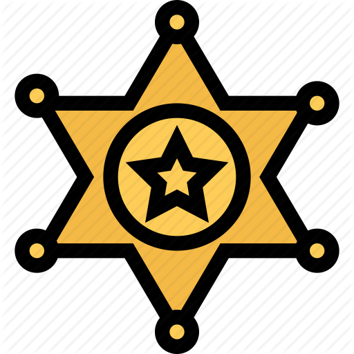 Bandits, Cowboy, Cowboys, Sheriffs Badge, Wild West Icon