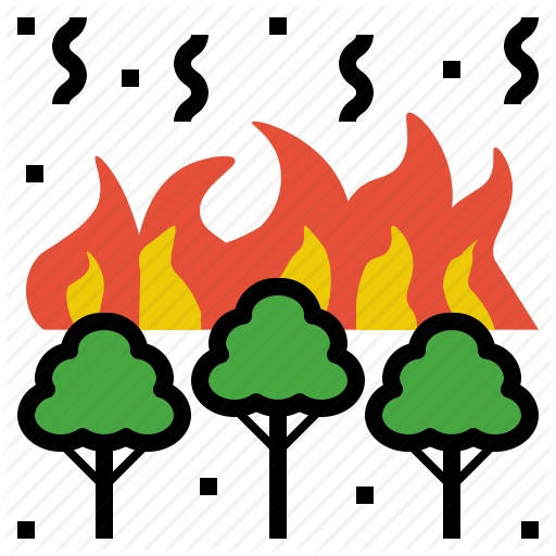 Burn, Fire, Flame, Forest, Wildfire Icon