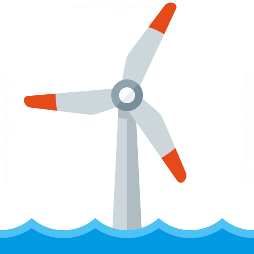 Iconexperience G Collection Wind Engine Offshore Icon