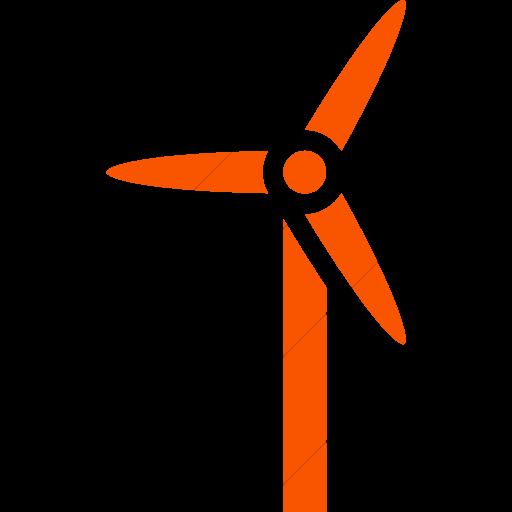 Simple Orange Iconathon Wind Turbine Icon