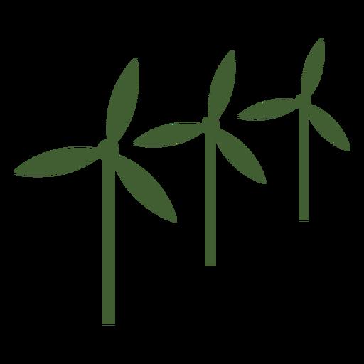 Three Wind Mills Icon