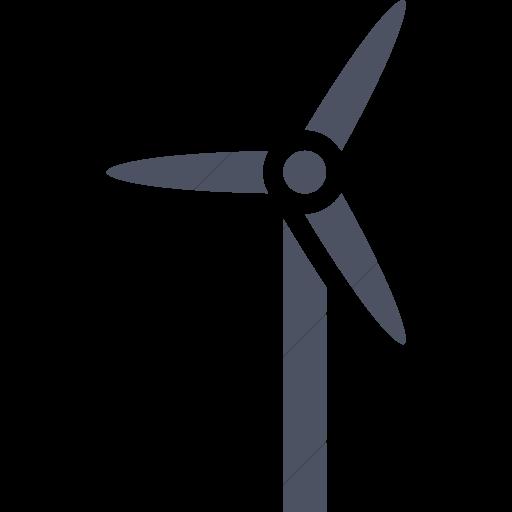 Simple Blue Gray Iconathon Wind Turbine Icon
