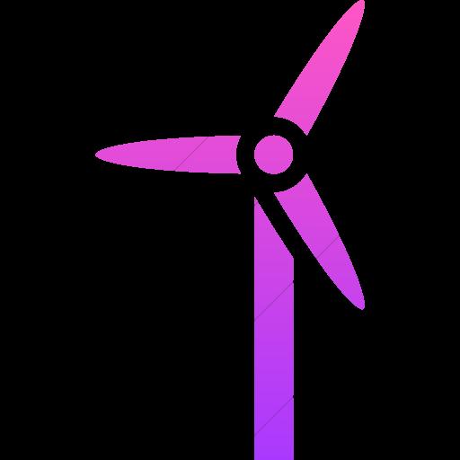 Simple Ios Pink Gradient Iconathon Wind Turbine Icon