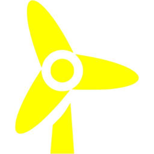 Yellow Wind Turbine Icon