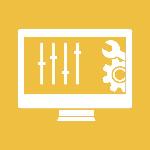 Configuration, Settings, Screen, Monitor, Control, Panel, Gear Icon