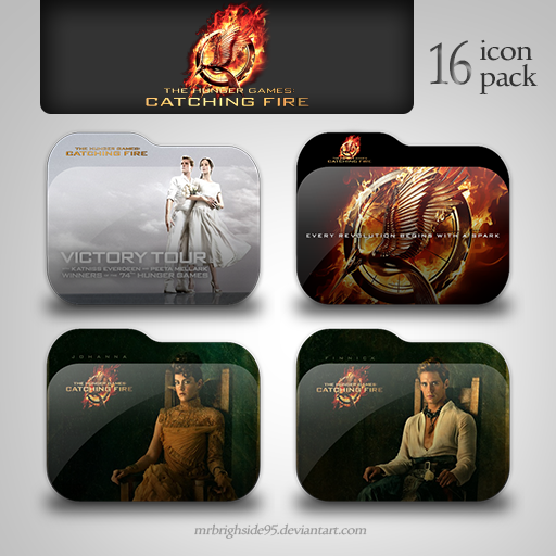 Thg Catching Fire Folder Icon Pack