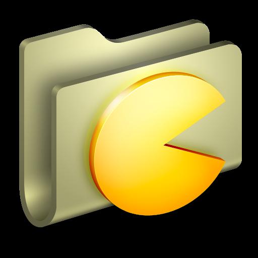 Games Folder Icon Alumin Folders Iconset Wil Nichols