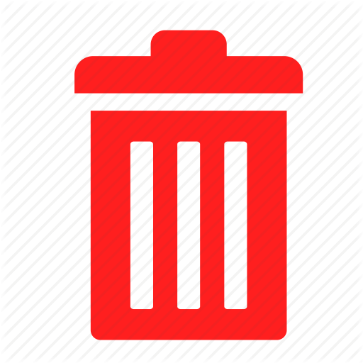 Delete, Empty, Recycle Bin, Red, Trash Icon