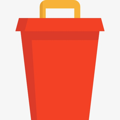 A Red Trash Can, Can Clipart, Trash Can, Rubbish Png Image