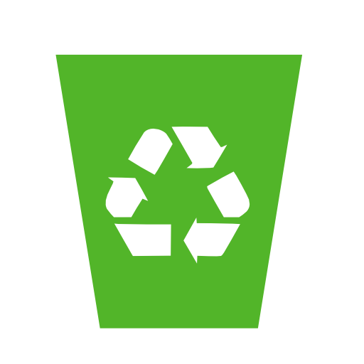 Recycle Bin Logo Group With Items