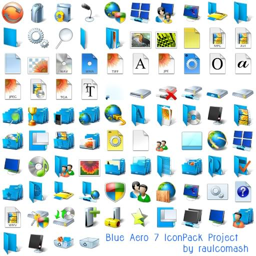 Amazing World 'blue Aero Iconpackager Theme Icons