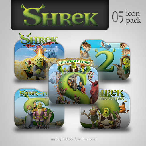 Shrek The Whole Story Folder Icon Pack