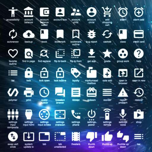 Free Icons From Google For Your Delphi Firemonkey Apps
