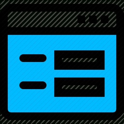 Application, Form, Survey, Window Icon Throughout Windows