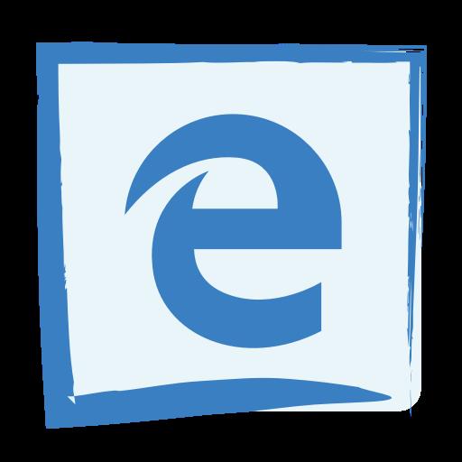 Media, Microsoft Edge, Social Icon