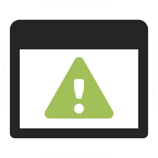 Window Warning Icon Iconexperience