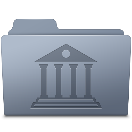 Library Folder Graphite Icon Smooth Leopard Iconset Mcdo Design