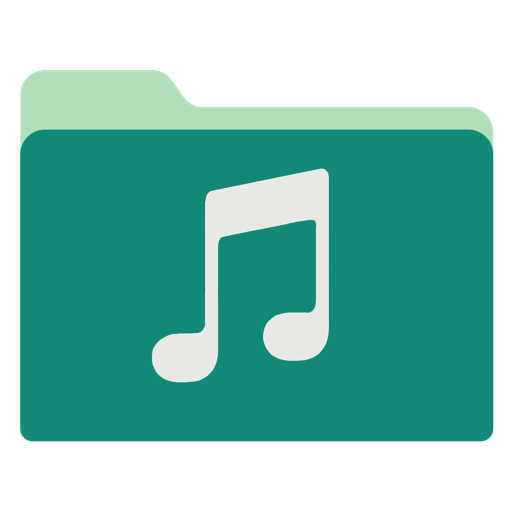 Music Icon Green Tropical Waters Folders Iconset Janosch