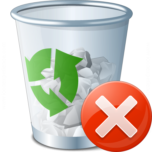 Iconexperience V Collection Garbage Error Icon
