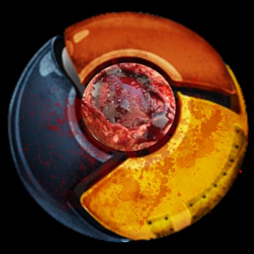 Bloody Chrome Icon Icon