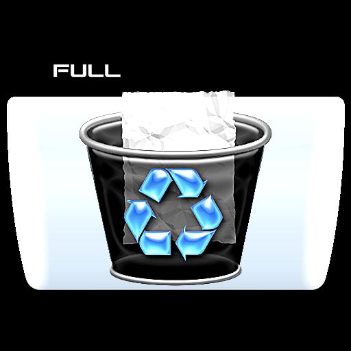 Full Trash, Folder, Icon Free Of Colorflow Icons
