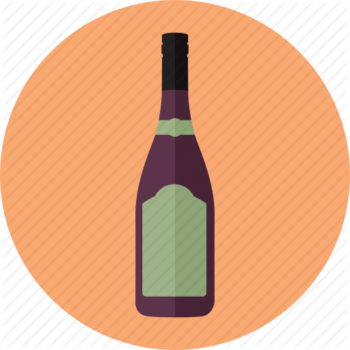 Alcoholic Drink, Beverages, Bottle, Drinks, Red Wine, Wine, Wines Icon