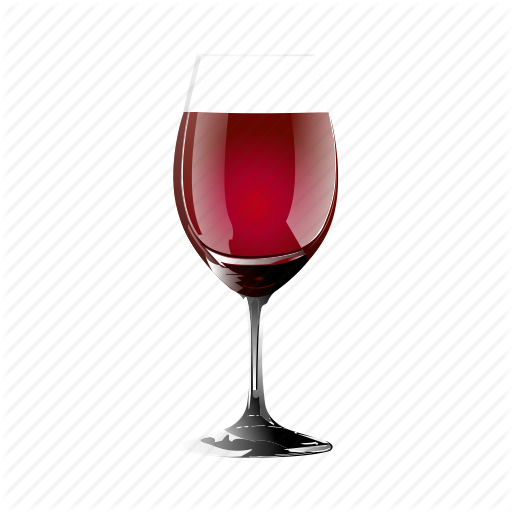 Drunk, Glass, Of, Red, Wine Icon