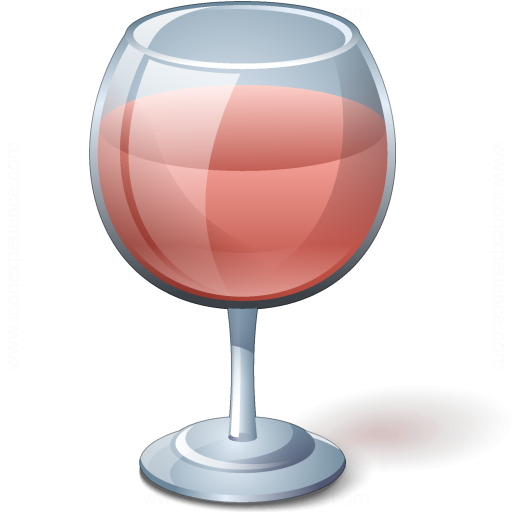 Iconexperience V Collection Wine Rose Glass Icon