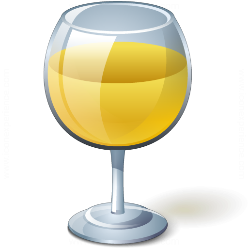 Iconexperience V Collection Wine White Glass Icon