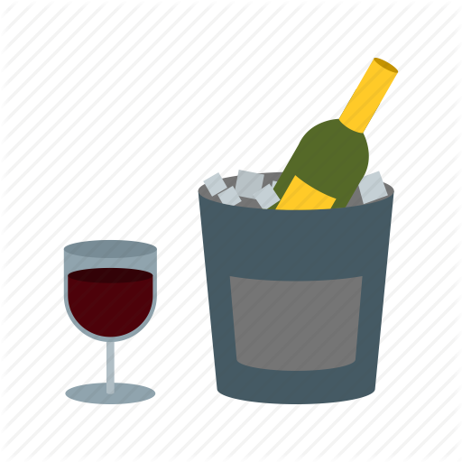 Alcohol, Beverage, Bottle, Cafe, Cold, Drink, Wine Icon