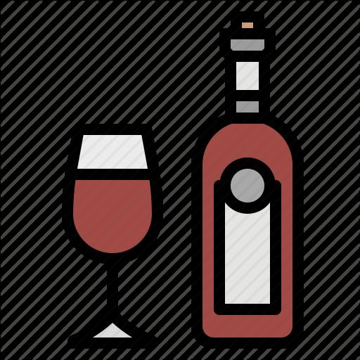 Alcohol, Beverage, Bottles, Drink, Wine Icon