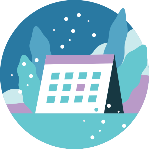 Activity, Background, Calendar, Snowfall, Winter Icon Free