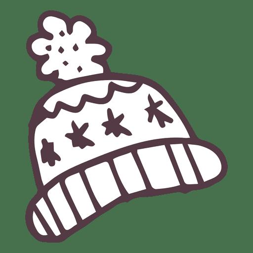 Winter Toboggan Hand Drawn Icon