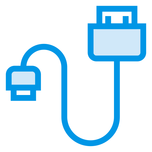 Usb, Cable, Plug, Data, Wire, Cord, Datacable Icon