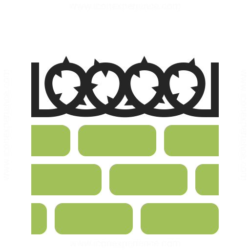 Wall Barbed Wire Icon Iconexperience