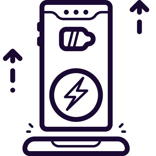 Battery, Charge, Charging, Mobile, Phone, Wireless Icon