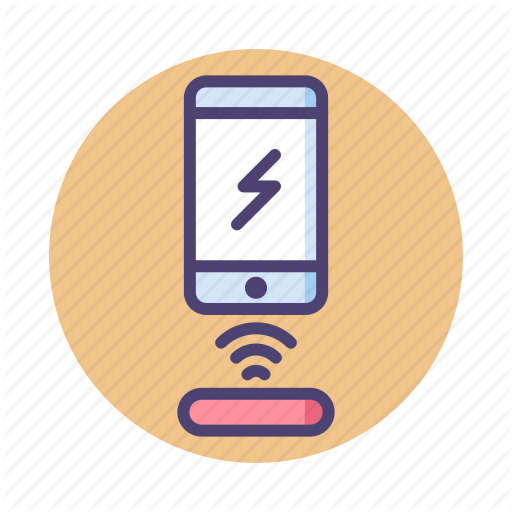 Charger, Charging, Wireless, Wireless Charger, Wireless Charging Icon