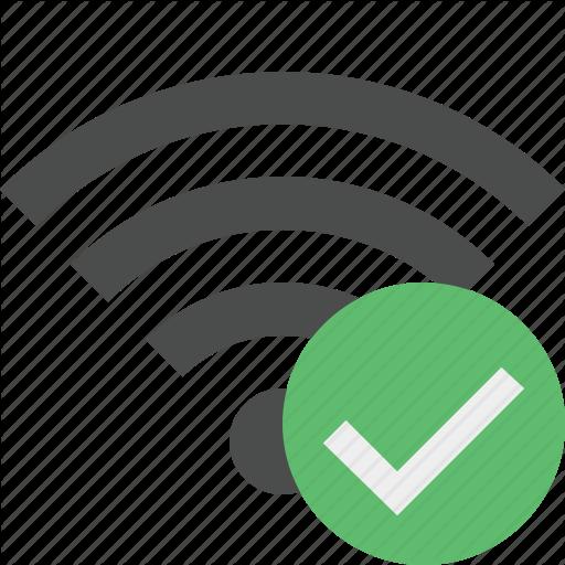 Connection, Internet, Ok, Wifi, Wireless Icon