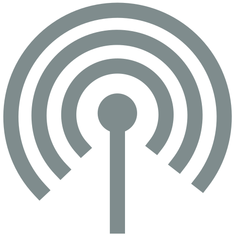 Network, Wireless, Connected Icon Free Of Super Flat Remix
