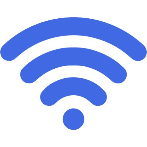 Royal Blue Wireless Icon