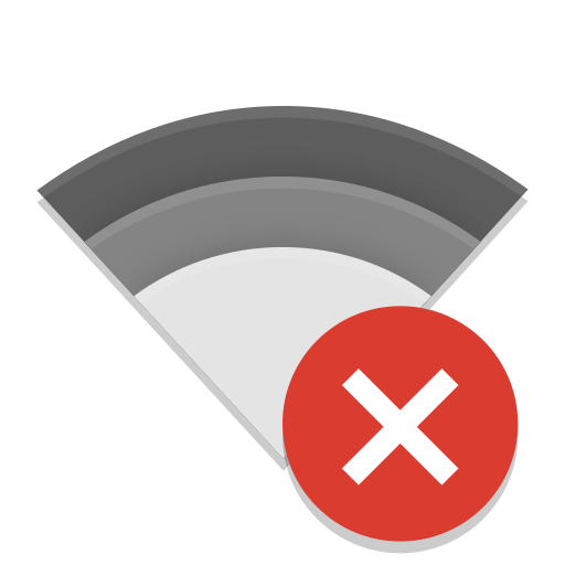 Notification Network Wireless Disconnected Icon Papirus Status