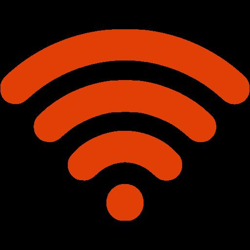 Orange Wireless Icon Png