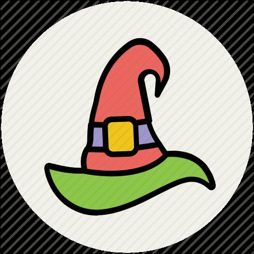 Halloween Cap, Halloween Hat, Halloween Witch Hat, Witch Hat Icon