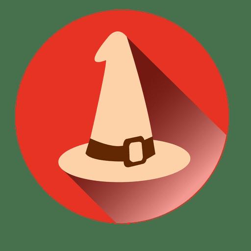 Witch Hat Round Icon