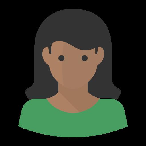 Avatar Black African American Woman, African American, Avatar Icon