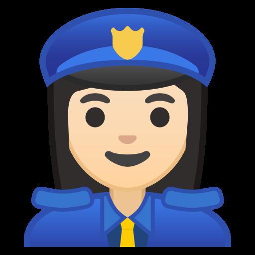 Woman Police Officer Light Skin Tone Icon Noto Emoji People