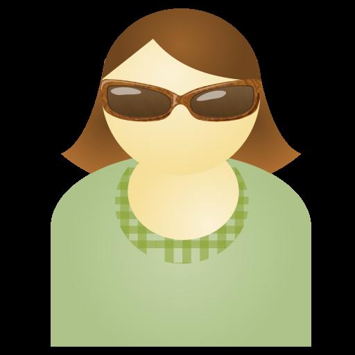 Free Sunglass Woman Green Account Person People Human User