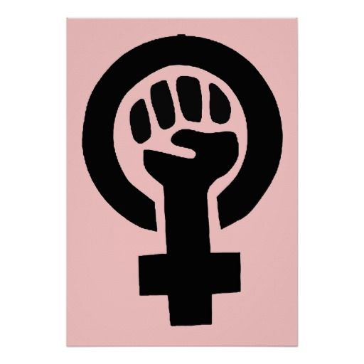 Feminist Woman Gender Equality Symbol Poster