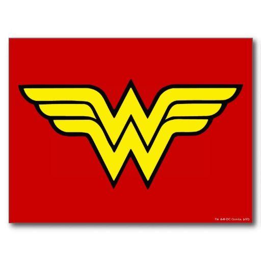 Wonder Woman Classic Logo Postcard Wonder Woman