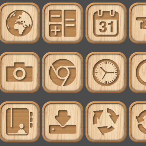 Wooden Icon Pack Appstore For Android